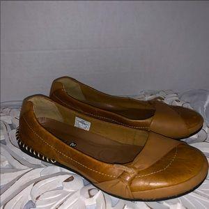 Merrell tan slip on shoes size 7.5